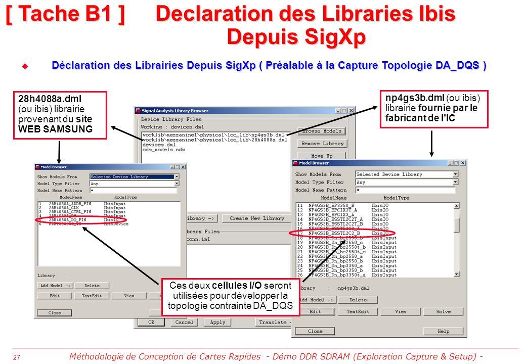 [ Tache B1 ] Declaration des Libraries Ibis Depuis SigXp